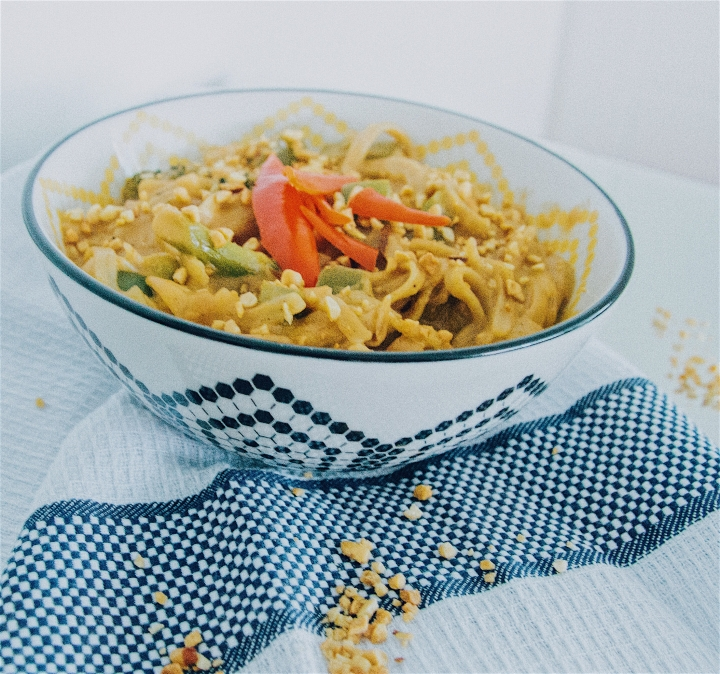 Creamy one pot phad thai